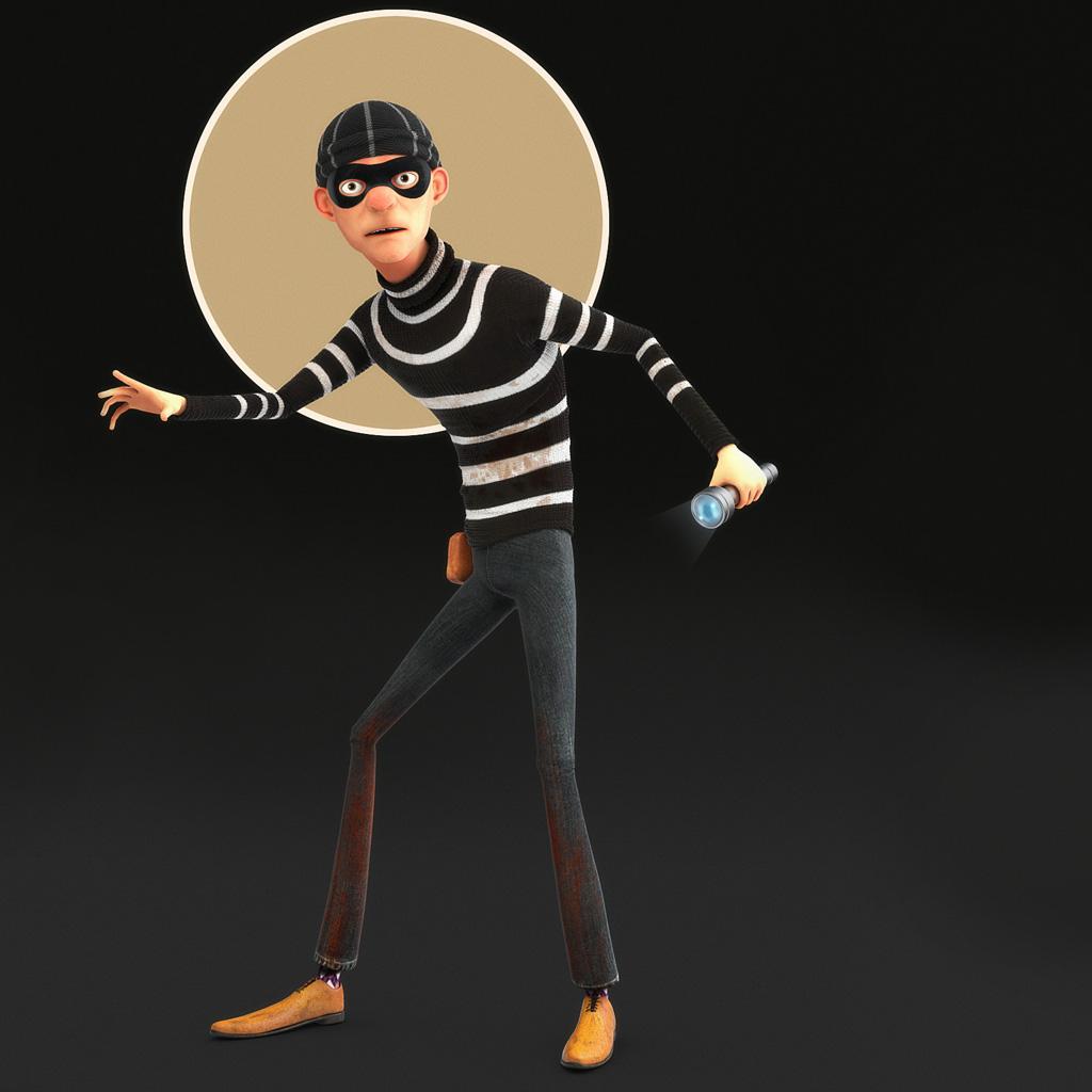 Ladrón con antifaz, flaco y con la luna dtrás de The-Thief-1