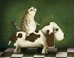 ART PLASTICO willmer_murillo- gato montado en perro