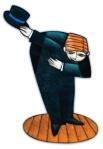 hombre en genuflección con su sombrero en la mano bowman