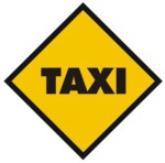 TAXI SIGN DIAMOND SHAPED ROTULO