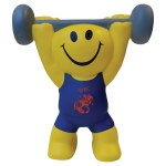 MONITO AMARILLO LEVANTAPESAS weight_lifter