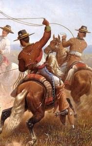 02_1877 Cowboys Roping a Bear