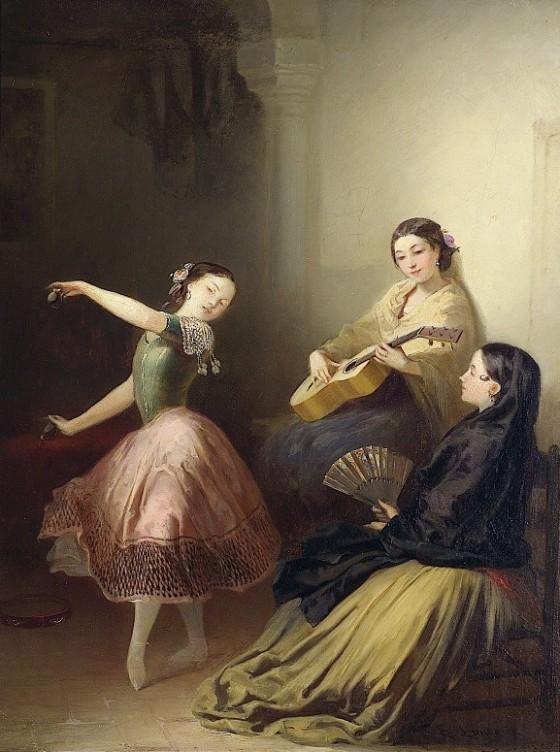 Lundgren, Egron (1815-1875) - Spansk dans