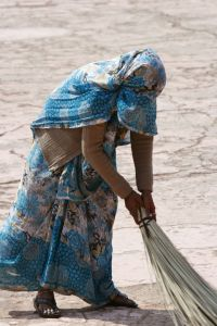 women-sweeping