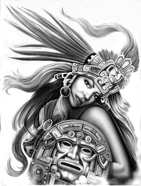 Dibujos De Guerreros Aztecas Imagui