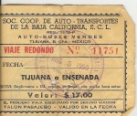 BOLETO VIJO DE BUS DE TIJUANA