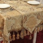 Fashion-luxury-quality-chenille-font-b-velvet-b-font-hanging-ear-dining-table-flag-table-cloth